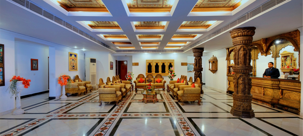Orchha Resort lobby