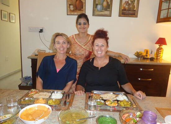 cooked food in haveli